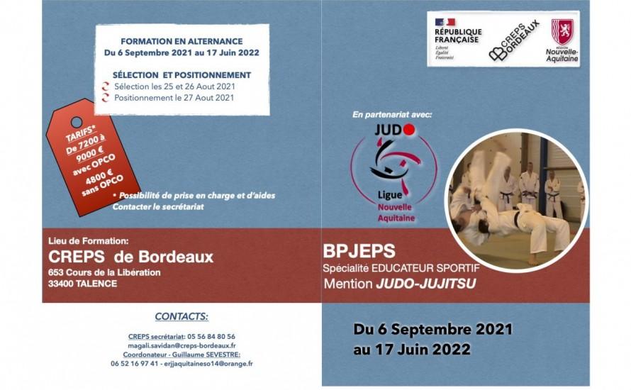 Plaquettes des  Formations Ligue Judo N Aquitaine